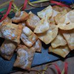 Ravioli di castagne e frappe di carnevale