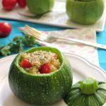 Zucchine ripiene di quinoa