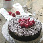 Torta ricotta, cioccolato e lamponi