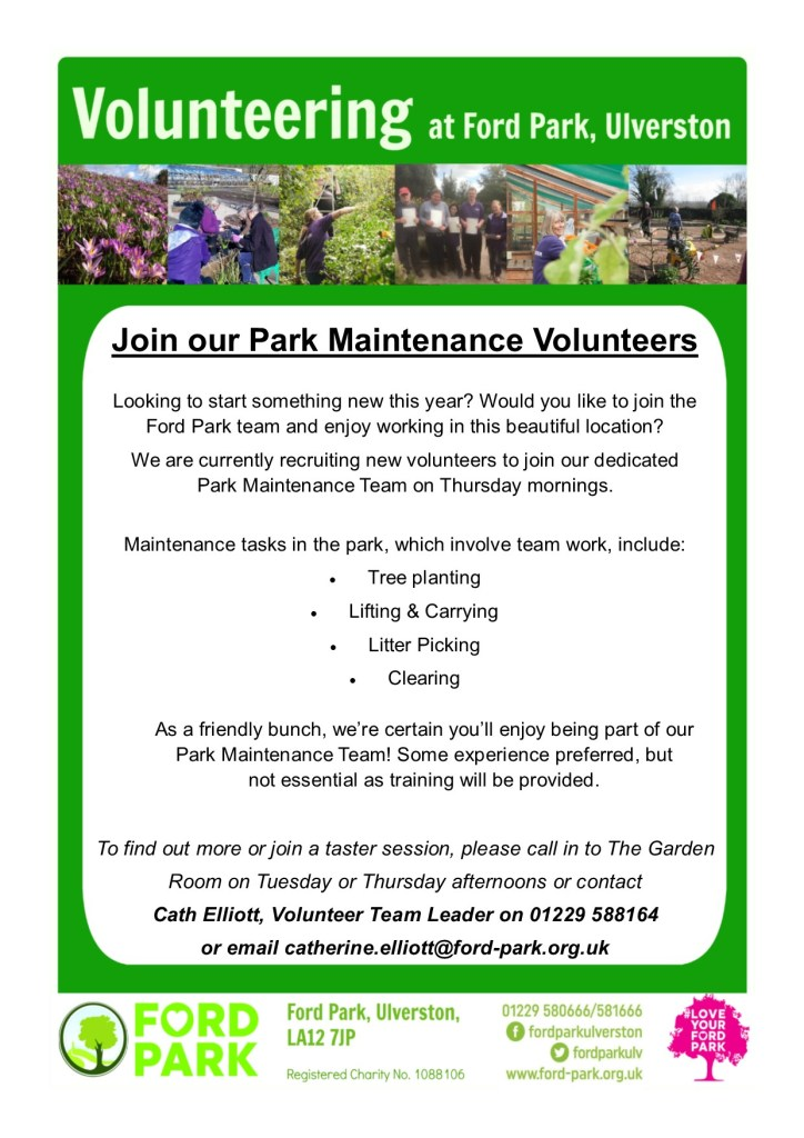 Volunteering opportunities at the park