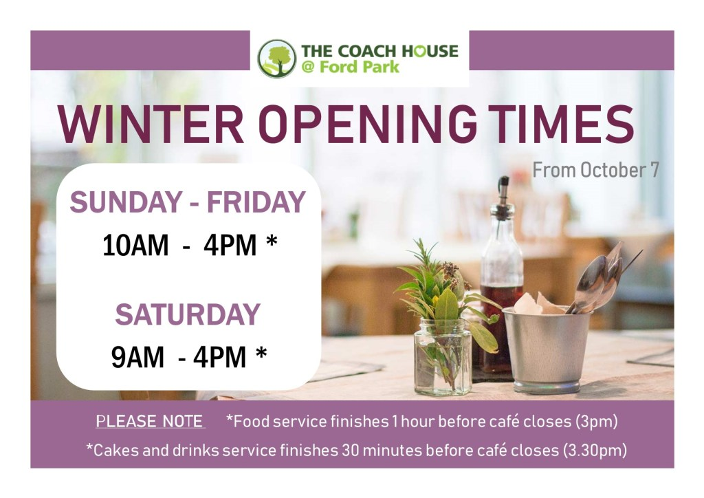 Winter opening for The Coach House @ Ford Park