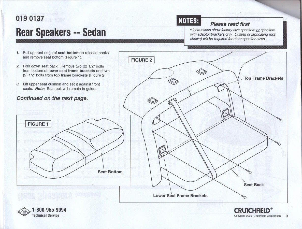 Rear Speakers For 07 Ford Taurus
