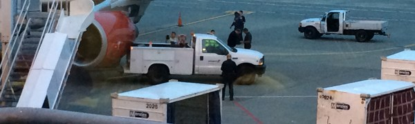 Ford Super Duty Backs into Airbus Virgin America Jetliner in Seattle