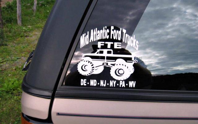 Ford Trucks Vinyl on 1997 Ford Explorer