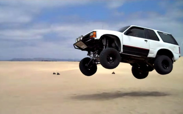 Ford Explorer Jumps at Oceano Dunes