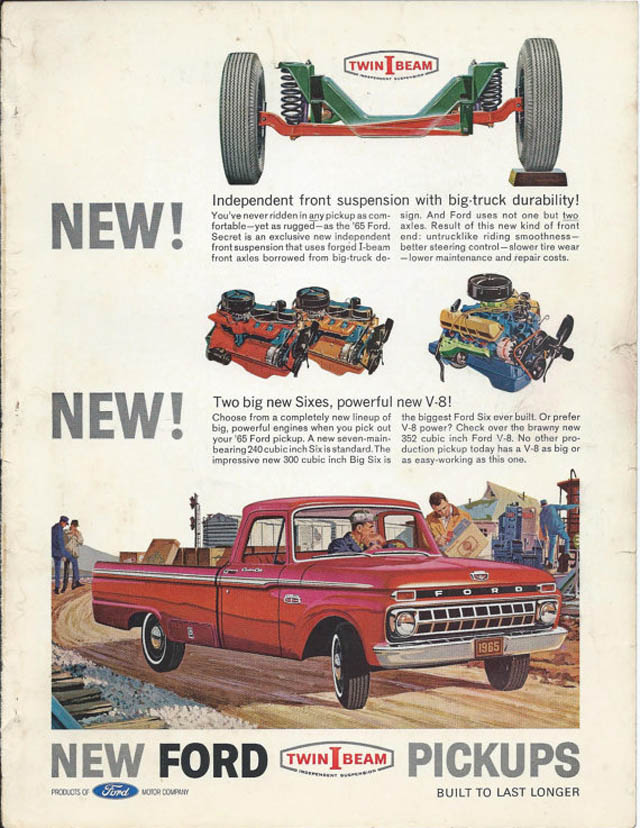 This Old Ad Introducing The All New 1965 Ford F 100 Pickup