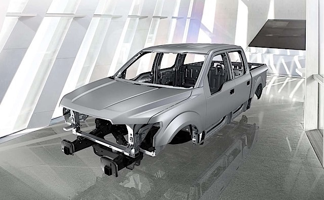 2015 Ford F-150 frame and body