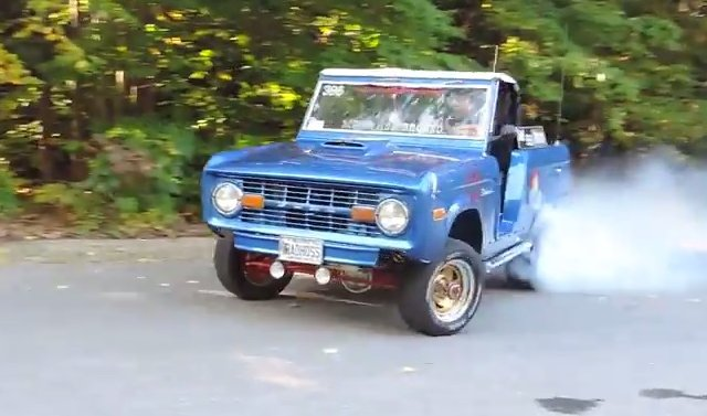 74 bronco burnout