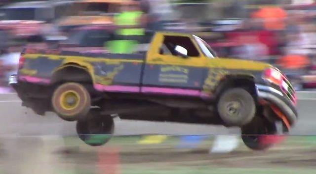 f150 tough truck jump