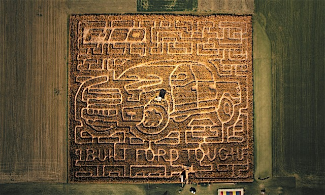 Ohio Farm Creates Giant Corn Maze Inspired by All-New Ford F-150