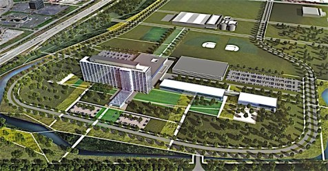 Dearborn Campus Transformation: WHQ Aerial