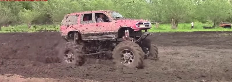 rear engine explorer mudding