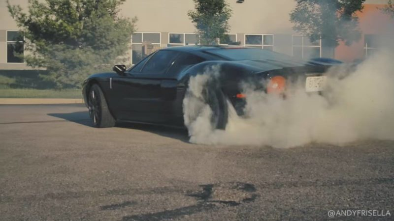 ford gt burnouts
