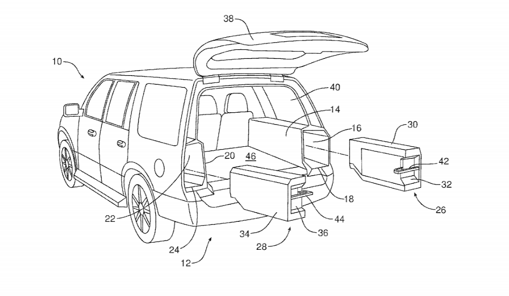 New Ford Patent Reveals Built-In/Slide-Out Beer Cooler