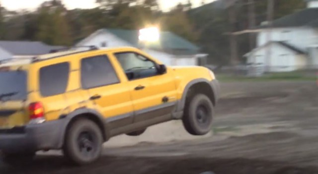 Ford Escape On A Mud Track In New York
