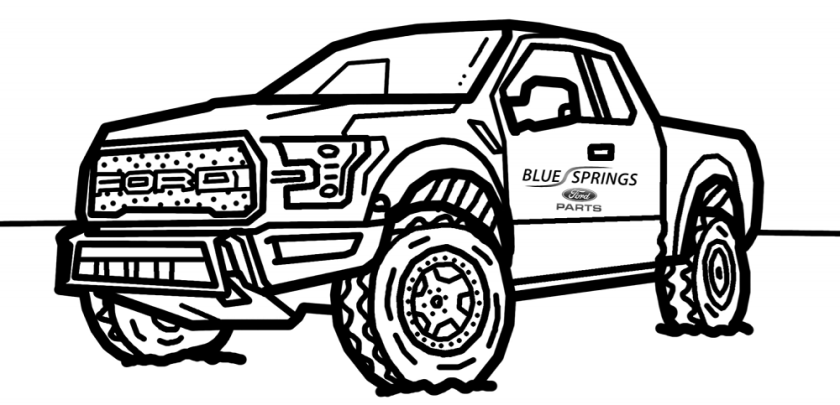 ford raptor coloring book isn't just for kids  ford