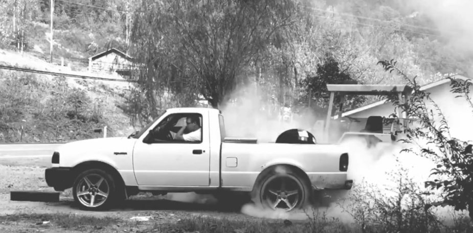 Ford Ranger in B&W