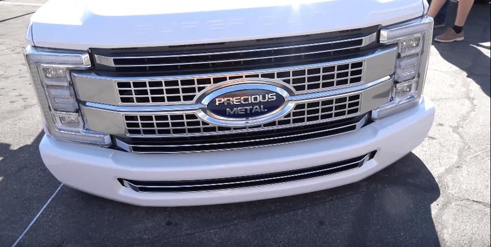 Bagged Ford Super Duty Rocks 'Precious Metal' Emblem - Ford