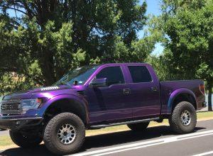 2014 Ford F-150 Raptor purple