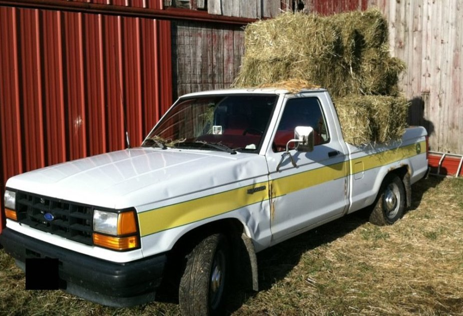1992 Ranger Hauling Hay