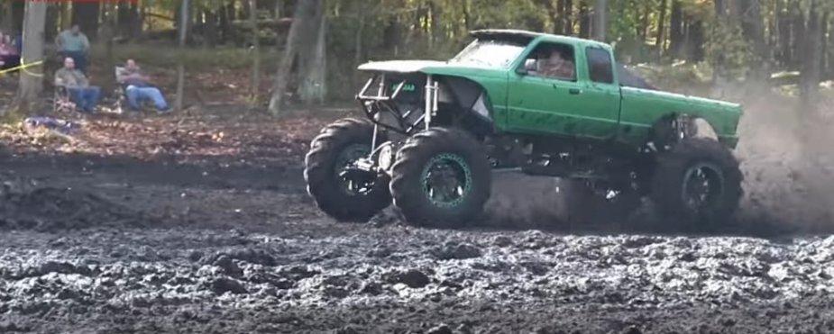 Green Ranger Mega Mud Truck Front