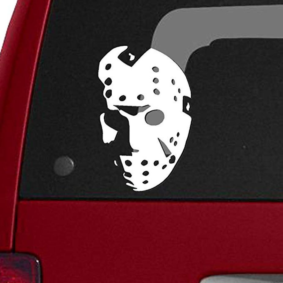 Jason Voorhees truck sticker