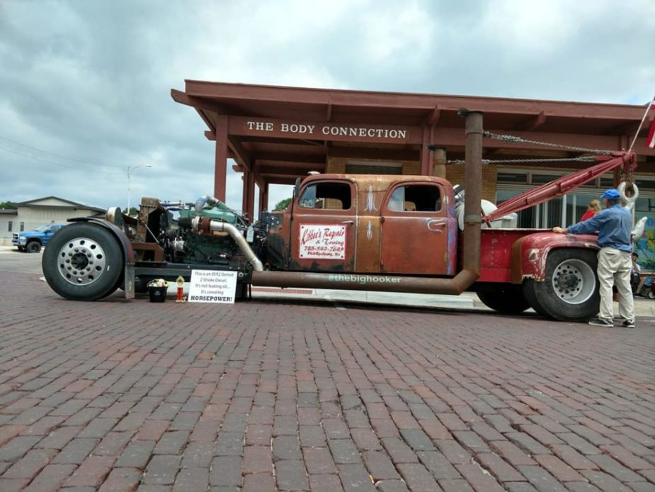 Ford-ish' Rat Rod Semi Hauler is Diesel-powered Coolness