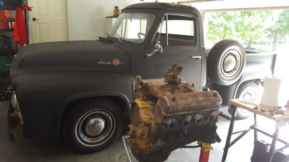1955 F-100 and 292 Engine