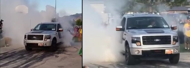 F-150 Tremor Burnout Two Angles