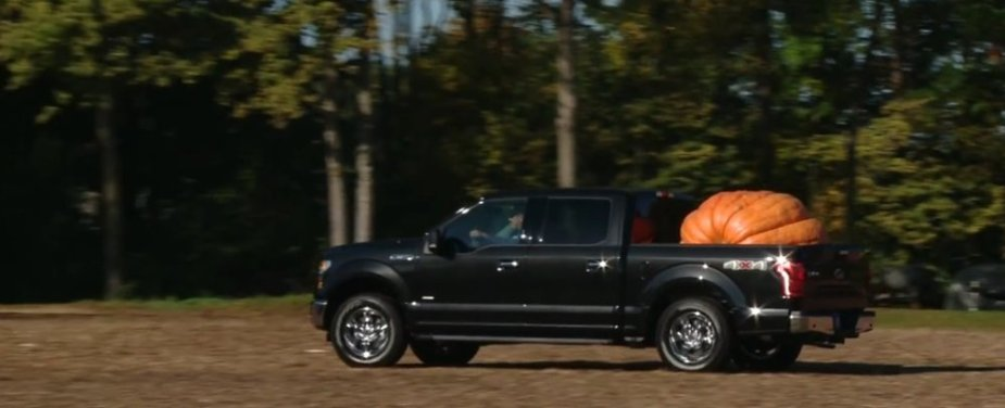 F-150 Carrying a Pumpkin