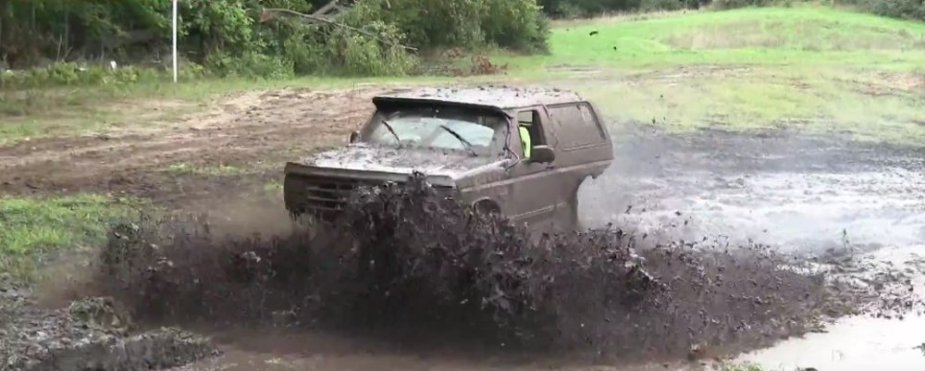 Ford Bronco Front in Mud