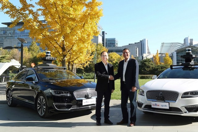 Ford and Baidu Announce Joint Autonomous Vehicle Testing