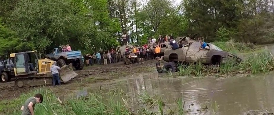 Chevy Stuck in Mud