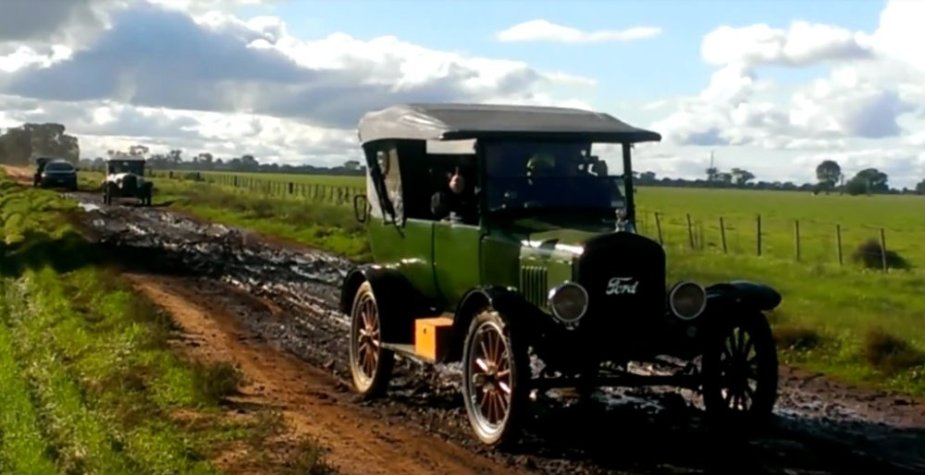 Green Ford Model T Off-Roading