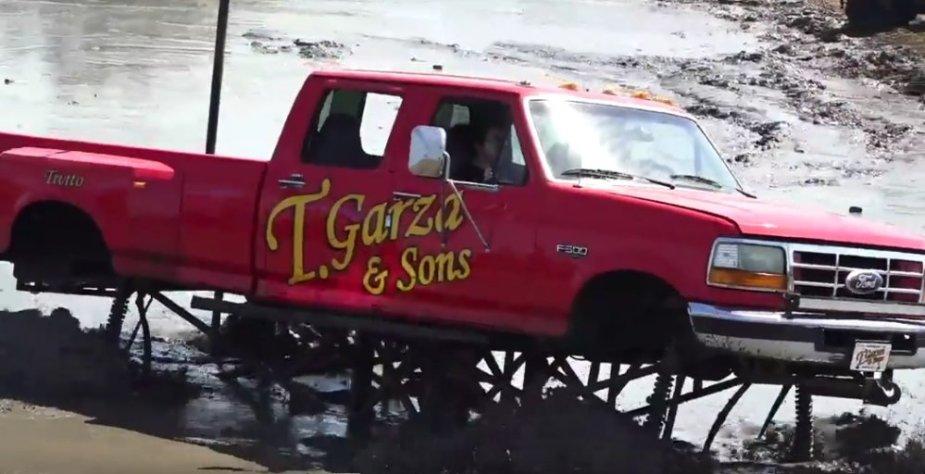 Ford F-350 Mud Truck Side