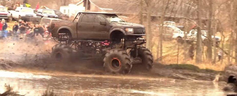 F-150 Raptor Mega Mud Truck Front Corner