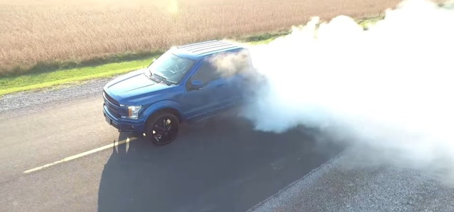 2018 Ford F-150 Driver's Side Aerial Burnout