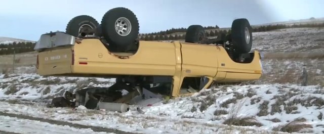 1975 Ford F-150 Upside Down