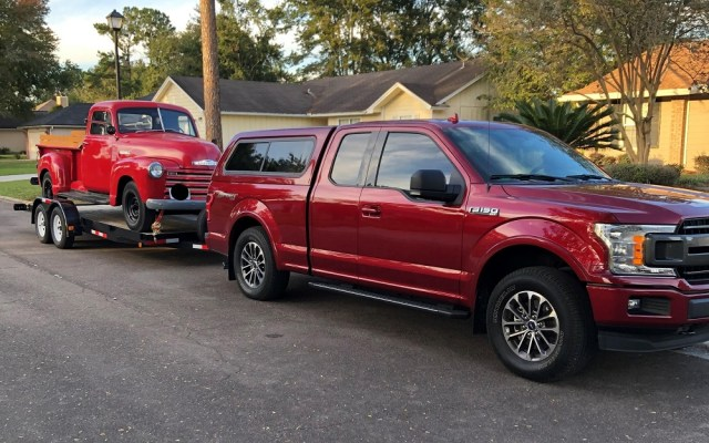 Ford F-150 Towing Chevy Truck