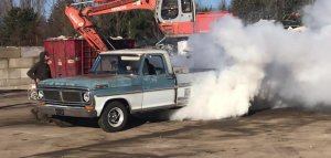 1970 Ford F-100 Two Tone Burnout Smoke