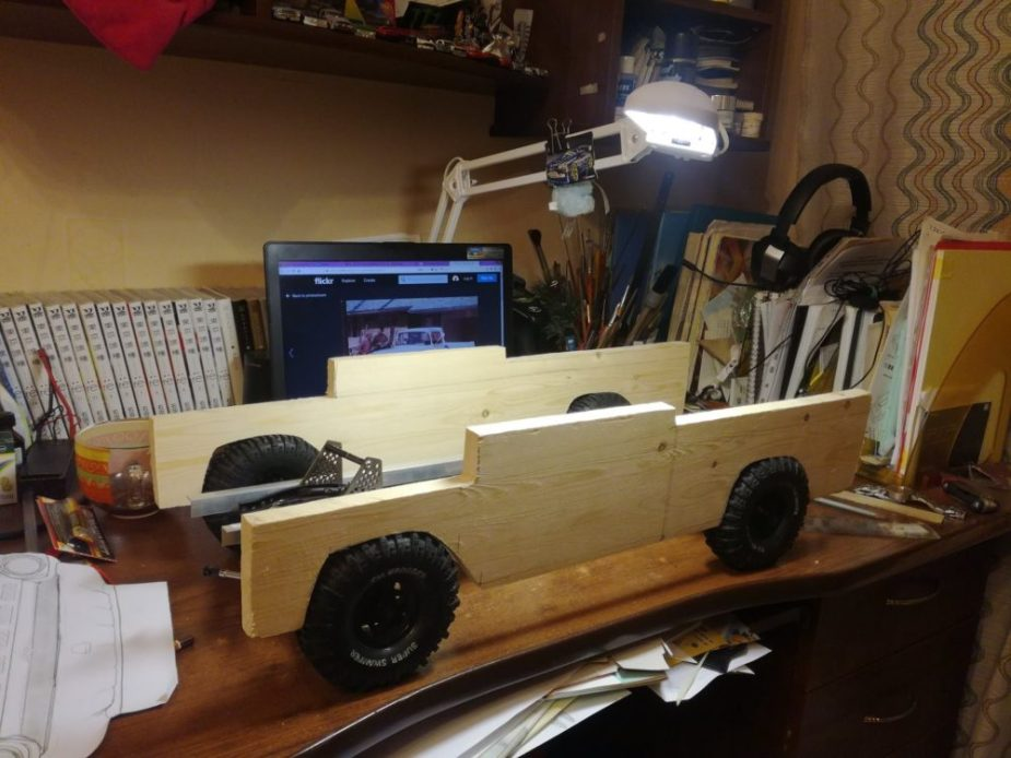 Ford F-100 Wooden RC Truck