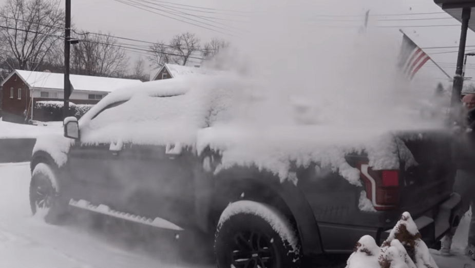 Ford Raptor snow removal