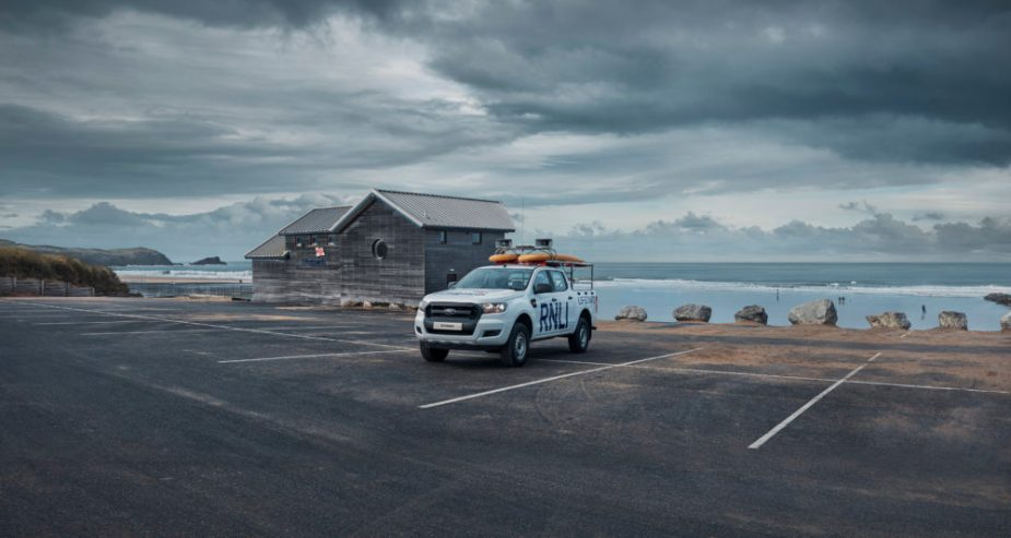 FORD TRUCK ENTHUSIASTS: Lone Ford Ranger on Fistral Beach