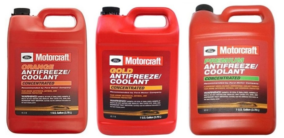 Ford Coolant Lineup