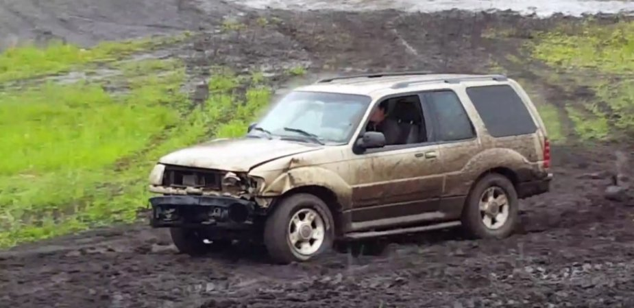 Second Gen Ford Explorer Wrecked Front