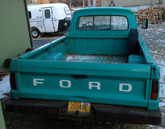 1965 Ford F-100 Rear Before