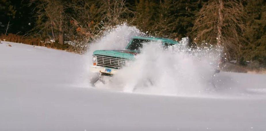 1967 Ford F-100 Cummins Snow Splash
