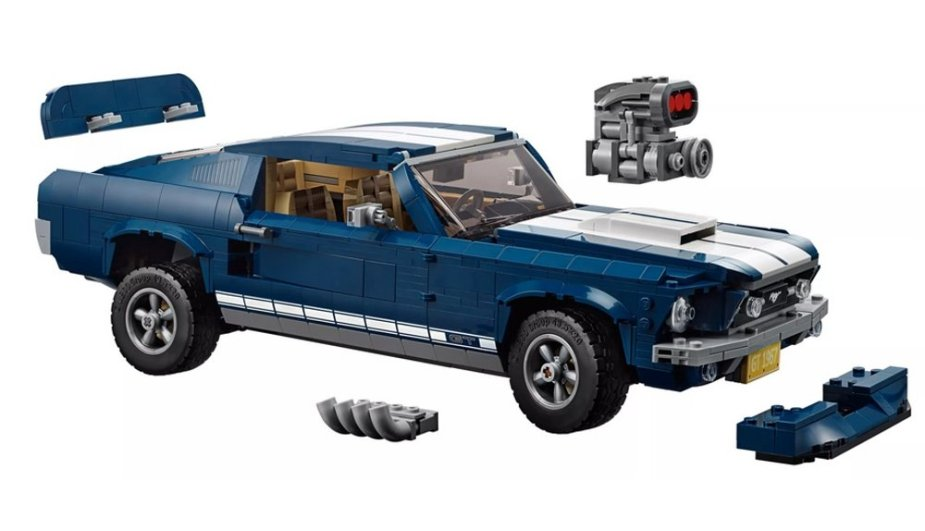 1967 Ford Mustang Lego with Mods