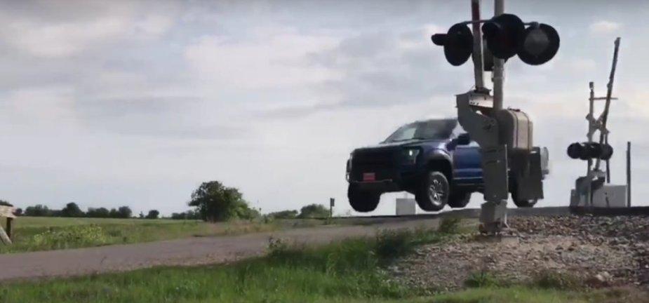 Ford F-150 Raptor Railroad Jump
