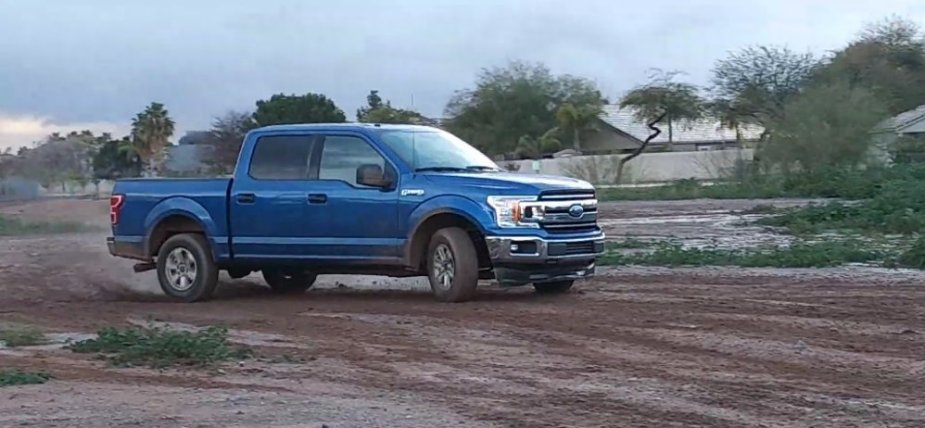 Rental Ford F-150 Drifting